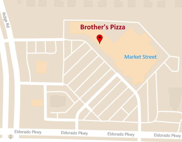 map of brother's pizza